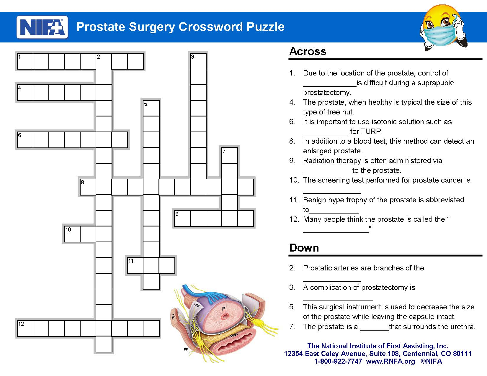 Prostate surgery crossword clues september 2017 rnfa ccuart Choice Image