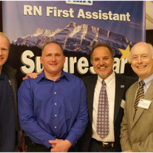 Our first Opening Night Ceremony in January had over 80 in attendance to hear Gary Hargreaves (right) presentation on RN First Assistant reimbursement in all states.