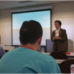 NIFA students are honored with a presentation from Linda Groah AORN CEO.
