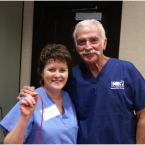 Dr. John with a successful Vein Harvesting student!