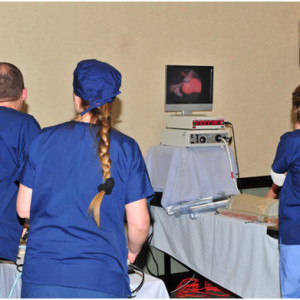 Two Boston Scientific VesselView 6 & 7 stations give students lots of opportunity to hone their skills.