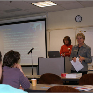 Shannon Carter and Mary O'neale of CCI teach the value of CNOR and CRNFA certification.