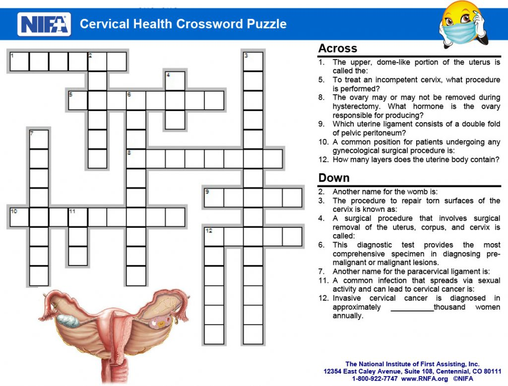 Cervical Health Crossword Clues January 2018 Rnfa