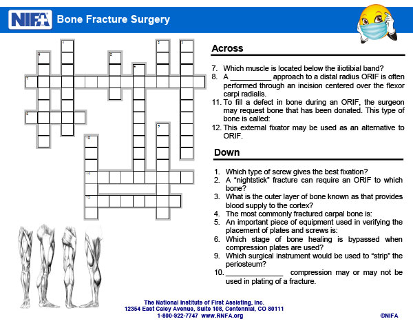 Bone fracture surgery crossword clues february 2018 rnfa recent newsletters ccuart Choice Image