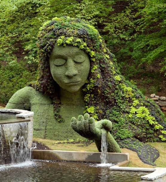 Earth Goddess sculpture at the Atlanta Botanical Garden