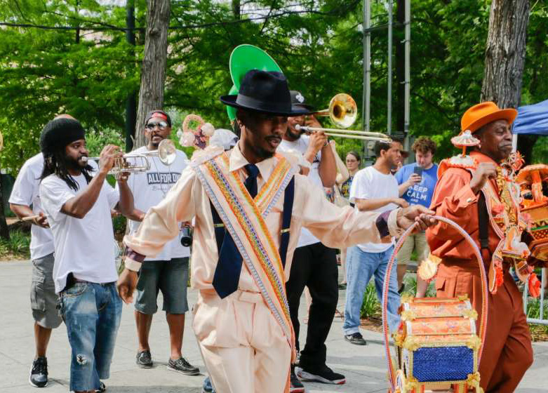 Second line at Jazz in the Park