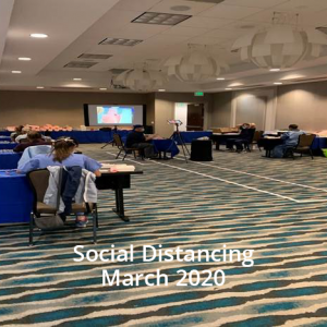 March 2020: NIFA SutureStar Workshops practice Social Distancing during Covid-19.